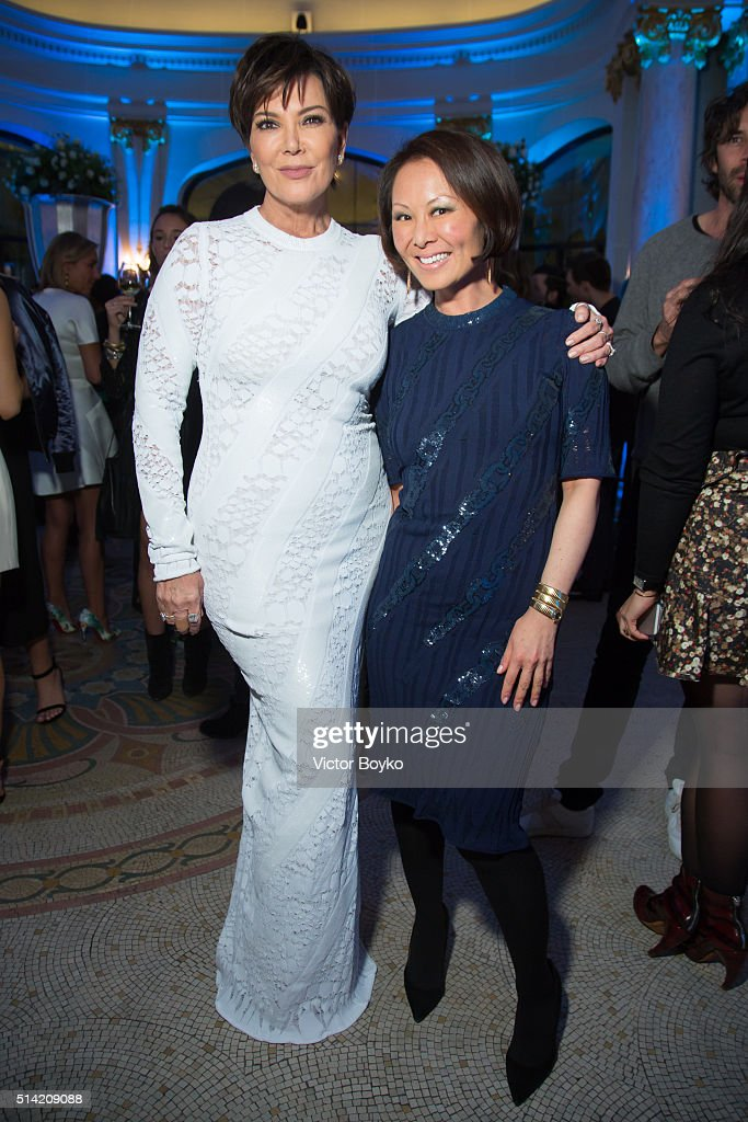 Kris Jenner and Alina Cho attend the Editorialist Spring/Summer 2016 Issue Launch Party at the Hotel Peninsula as part of the Paris Fashion Week Womenswear Fall/Winter 2016/2017 on March 7, 2016 in Paris, France.