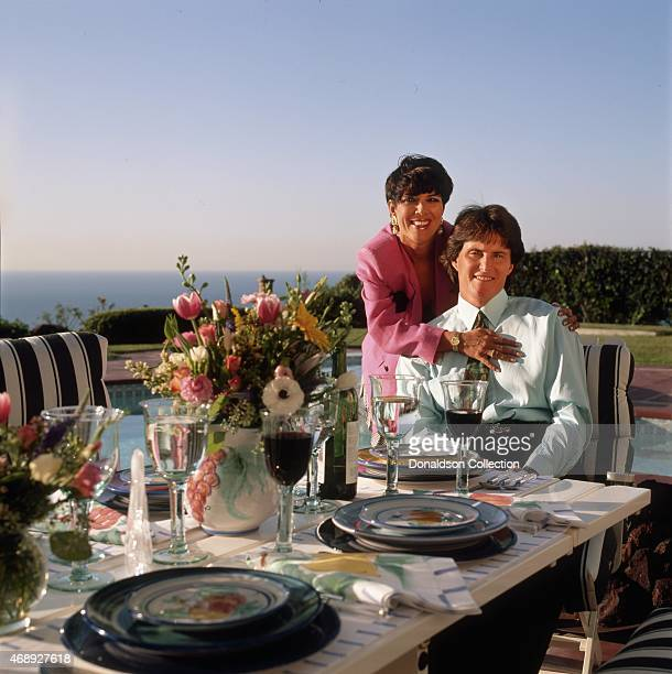 Kris Jenner and Bruce Jenner pose for a portrait in 1991 in Los Angeles California
