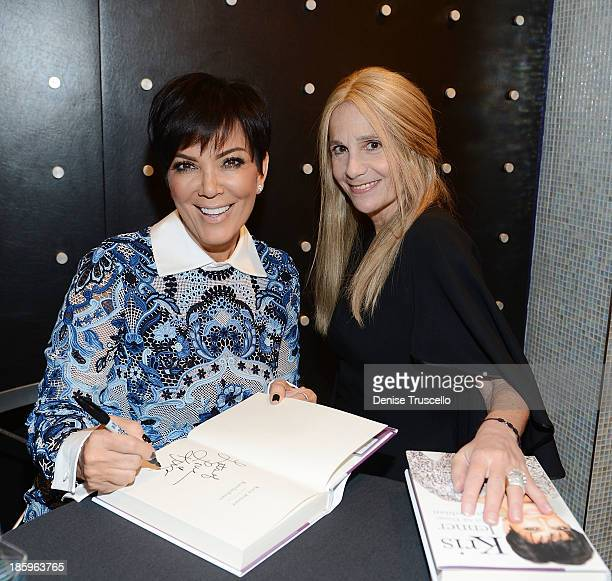 Kris Jenner and Cici Bussey attend Kardashian Khaos in the Mirage Hotel and Casino on October 26 2013 in Las Vegas Nevada