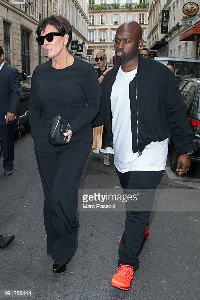 Kris Jenner and Corey Gamble are seen leaving the 'Kinugawa' restaurant on October 4 2015 in Paris France