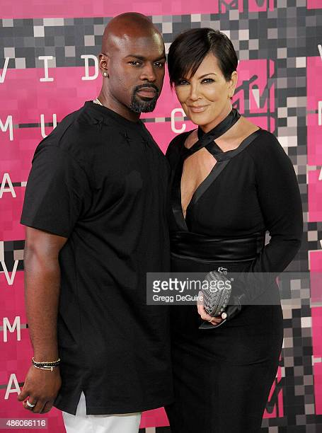 Kris Jenner and Corey Gamble arrive at the 2015 MTV Video Music Awards at Microsoft Theater on August 30, 2015 in Los Angeles, California.