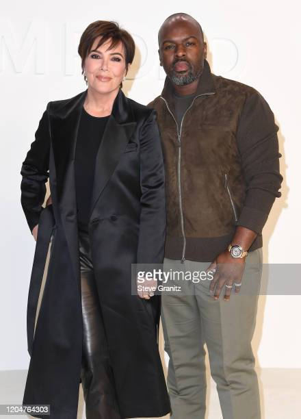 Kris Jenner and Corey Gamble arrives at the Tom Ford AW20 Show at Milk Studios on February 07 2020 in Hollywood California