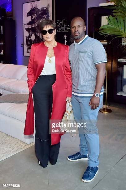Kris Jenner and Corey Gamble attend GENERAL PUBLIC x RH Celebration at Restoration Hardware on June 27 2018 in Los Angeles California