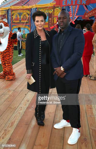 Kris Jenner and Corey Gamble attend Moschino Spring/Summer 19 Menswear and Women's Resort Collection at the Los Angeles Equestrian Center on June 8...