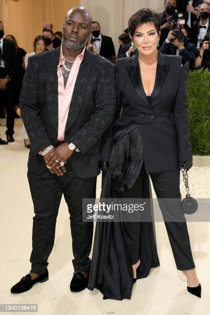 Kris Jenner and Corey Gamble attend The 2021 Met Gala Celebrating In America: A Lexicon Of Fashion at Metropolitan Museum of Art on September 13,...