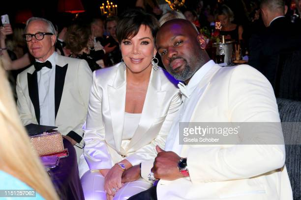 Kris Jenner and Corey Gamble attend the amfAR Cannes Gala 2019 at Hotel du CapEdenRoc on May 23 2019 in Cap d'Antibes France