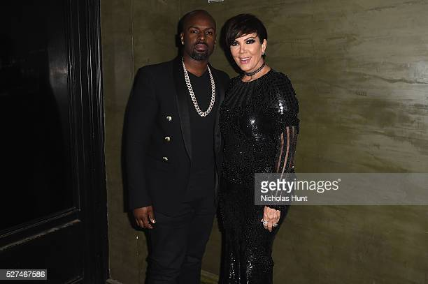 Kris Jenner and Corey Gamble attend the Balmain and Olivier Rousteing after the Met Gala Celebration on May 02 2016 in New York New York