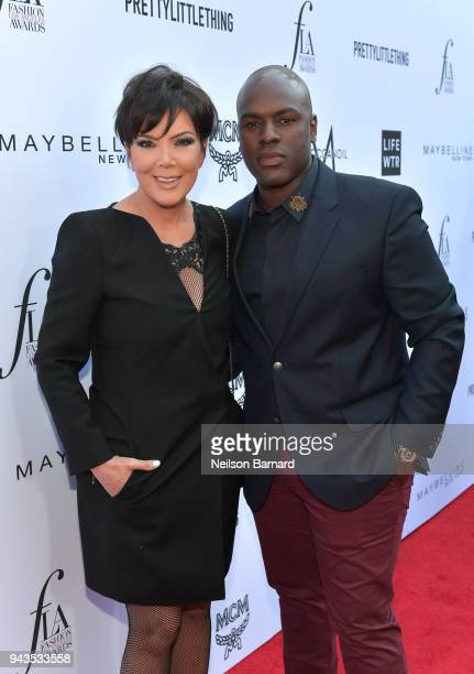 Kris Jenner and Corey Gamble attend The Daily Front Row's 4th Annual Fashion Los Angeles Awards at Beverly Hills Hotel on April 8, 2018 in Beverly...