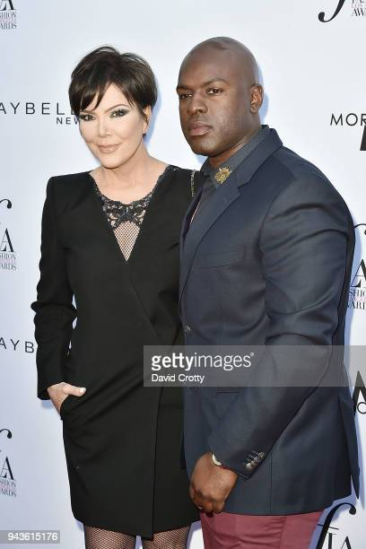 Kris Jenner and Corey Gamble attend The Daily Front Row's 4th Annual Fashion Los Angeles Awards - Arrivals at The Beverly Hills Hotel on April 8,...