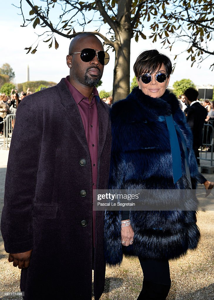 Kris Jenner and Corey Gamble attend the Elie Saab show as part of the Paris Fashion Week Womenswear Spring/Summer 2016 on October 3, 2015 in Paris, France.