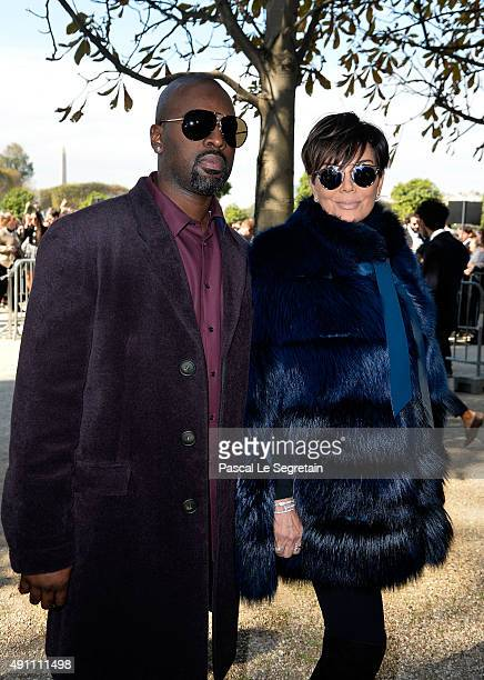 Kris Jenner and Corey Gamble attend the Elie Saab show as part of the Paris Fashion Week Womenswear Spring/Summer 2016 on October 3 2015 in Paris...
