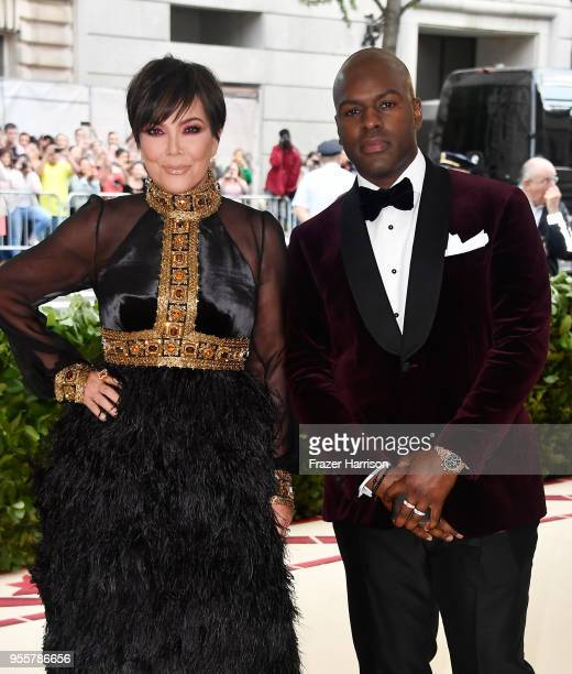 Kris Jenner and Corey Gamble attend the Heavenly Bodies Fashion The Catholic Imagination Costume Institute Gala at The Metropolitan Museum of Art on...