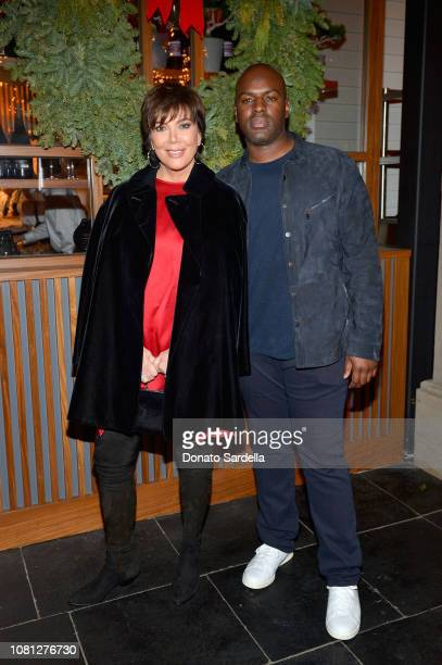 Kris Jenner and Corey Gamble attend the Tamara Mellon Palisades Village Opening Party at Blue Ribbon Sushi on December 11 2018 in Pacific Palisades...