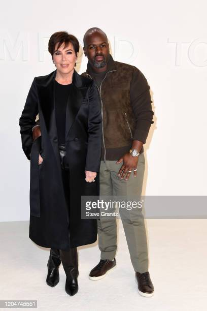 Kris Jenner and Corey Gamble attend the Tom Ford AW20 Show at Milk Studios on February 07, 2020 in Hollywood, California.