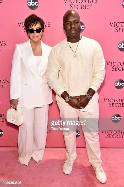 Kris Jenner and Corey Gamble attend the Victoria's Secret Fashion Show at Pier 94 on November 8 2018 in New York City