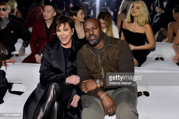 Kris Jenner and Corey Gamble attend Tom Ford Autumn/Winter 2020 Runway Show at Milk Studios on February 07 2020 in Los Angeles California