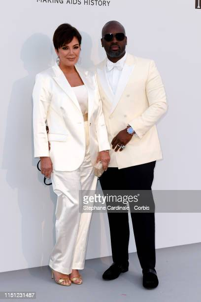 Kris Jenner and Corey Gamble attends the amfAR Cannes Gala 2019>> at Hotel du Cap-Eden-Roc on May 23, 2019 in Cap d'Antibes, France.