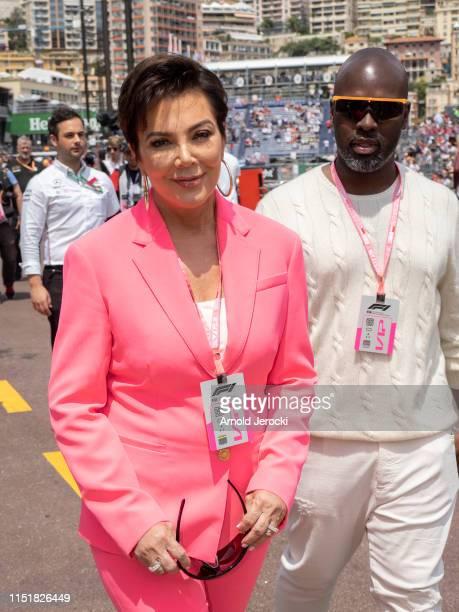 Kris Jenner and Corey Gamble attends the F1 Grand Prix of Monaco on May 26 2019 in MonteCarlo Monaco