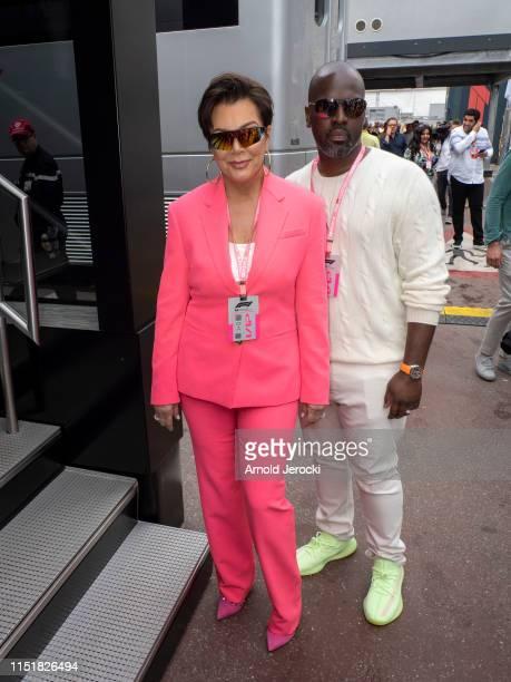 Kris Jenner and Corey Gamble attends the F1 Grand Prix of Monaco on May 26, 2019 in Monte-Carlo, Monaco.