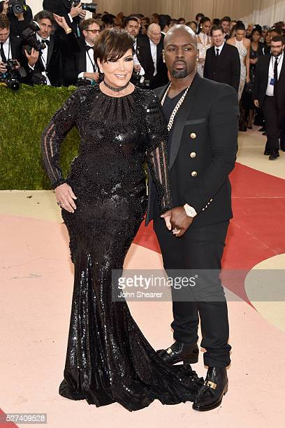 """Kris Jenner and Corey Gamble attends the """"Manus x Machina: Fashion In An Age Of Technology"""" Costume Institute Gala at Metropolitan Museum of Art on..."""