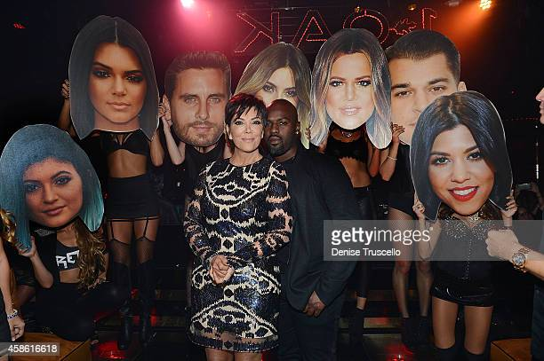 Kris Jenner and Corey Gamble celebrate Kris Jenner's birthday at 1 OAK nightclub on November 7 2014 in Las Vegas Nevada