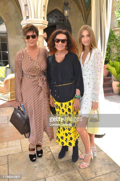 Kris Jenner and Diane von Furstenberg join Talita von Furstenberg in celebrating her first collection for DVF at Chateau Marmont's Bar Marmont on...