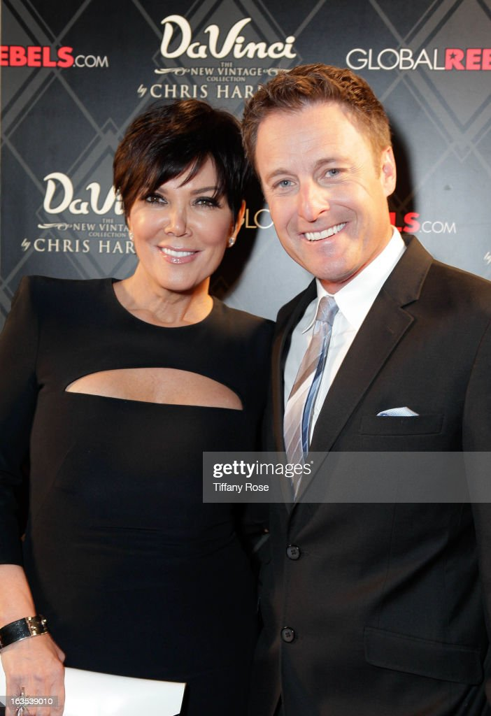 Kris Jenner and host Chris Harrison attend the Grand Opening Of DaVinci Of California on March 11, 2013 in Los Angeles, California.