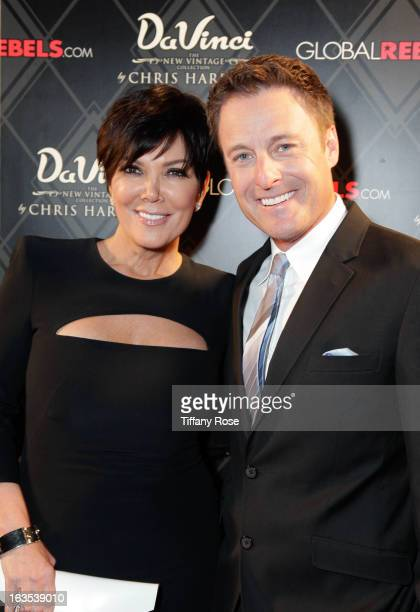 Kris Jenner and host Chris Harrison attend the Grand Opening Of DaVinci Of California on March 11 2013 in Los Angeles California