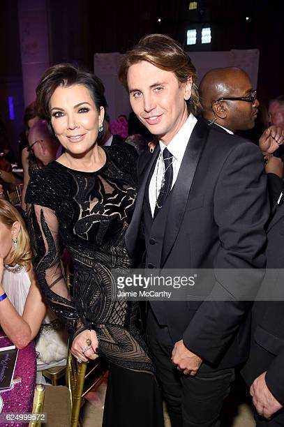 Kris Jenner and Jonathan Cheban attend the 2016 Angel Ball hosted by Gabrielle's Angel Foundation For Cancer Research on November 21 2016 in New York...