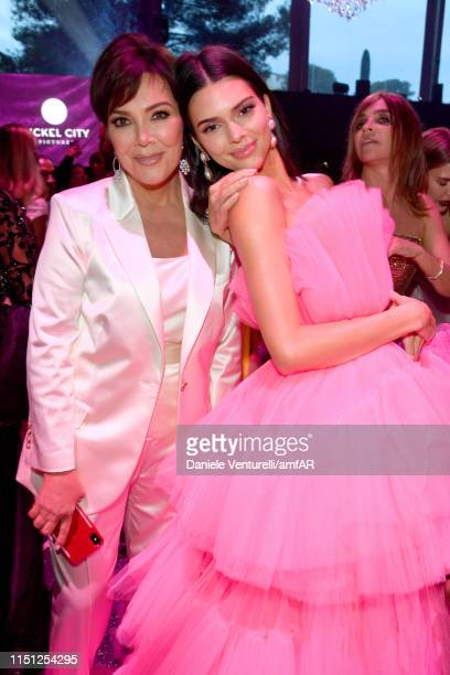 Kris Jenner and Kendall Jenner attend the amfAR Cannes Gala 2019 at Hotel du CapEdenRoc on May 23 2019 in Cap d'Antibes France