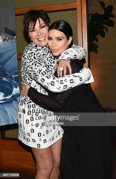 Kris Jenner and Kim Kardashian West attend Westime Celebrates Kris Jenner's Haute Living Cover at Nobu Malibu on August 24 2015 in Malibu California