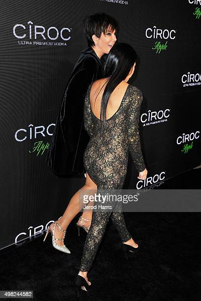 Kris Jenner and Kourtney Kardashian arrives at Sean 'Diddy' Combs Exclusive Birthday Celebration on November 21 2015 in Beverly Hills California