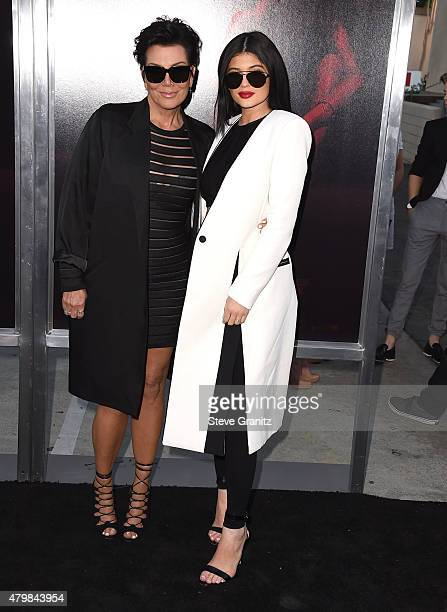 Kris Jenner and Kylie Jenner arrives at the 'The Gallows' Los Angeles Premiere at Hollywood High School on July 7 2015 in Los Angeles California