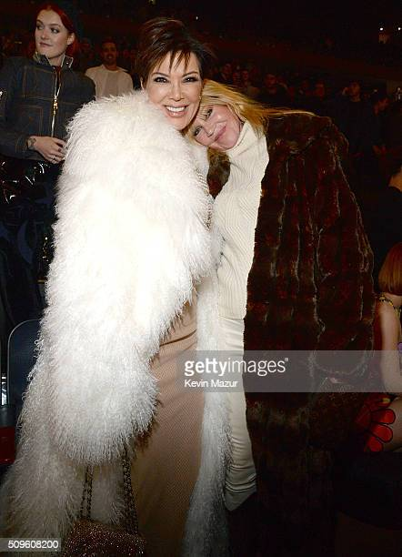 Kris Jenner and Melanie Griffiths attend Kanye West Yeezy Season 3 at Madison Square Garden on February 11 2016 in New York City