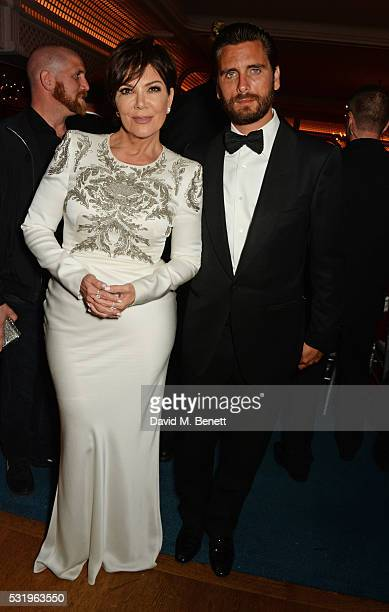Kris Jenner and Scott Disick attend the de Grisogono party during the 69th Cannes Film Festival at Hotel du CapEdenRoc on May 17 2016 in Cap...