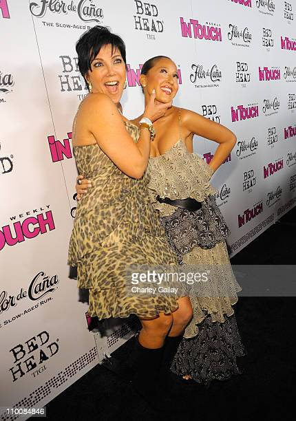 Kris Jenner and singer/actress Adrienne Bailon arrive at In Touch Weekly's ICONS IDOLS CELEBRATION with performances by Good Charlotte Leona Lewis...