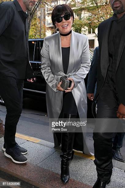 Kris Jenner arrives at Four Seasons Hotel George V on September 29, 2016 in Paris, France.
