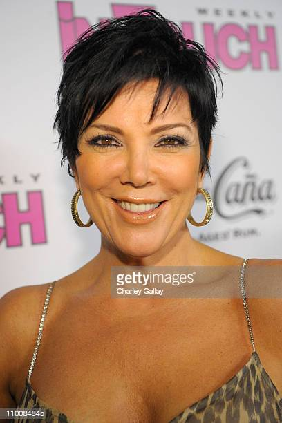 Kris Jenner arrives at In Touch Weekly's ICONS IDOLS CELEBRATION with performances by Good Charlotte Leona Lewis and The Veronicas and music provided...