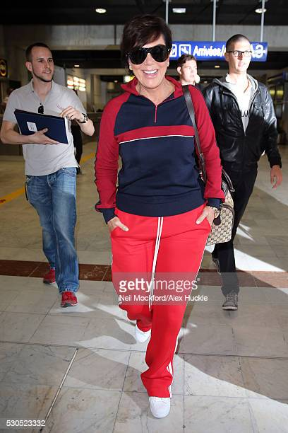 Kris Jenner arrives at Nice airport ahead of the 69th Annual Cannes Film Festival on May 11 2016 in Nice France