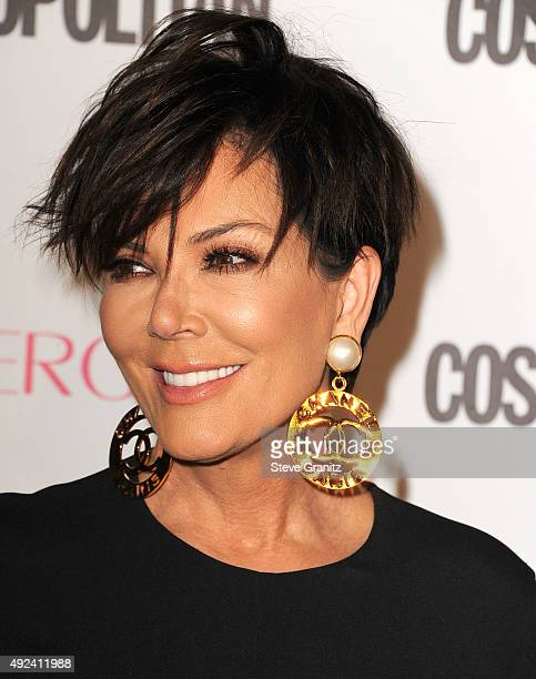 Kris Jenner arrives at the Cosmopolitan Magazine's 50th Birthday Celebration at Ysabel on October 12 2015 in West Hollywood California