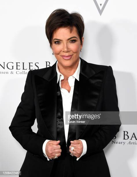 Kris Jenner arrives at the Los Angeles Ballet Gala 2020 at The Broad Stage on February 28 2020 in Santa Monica California