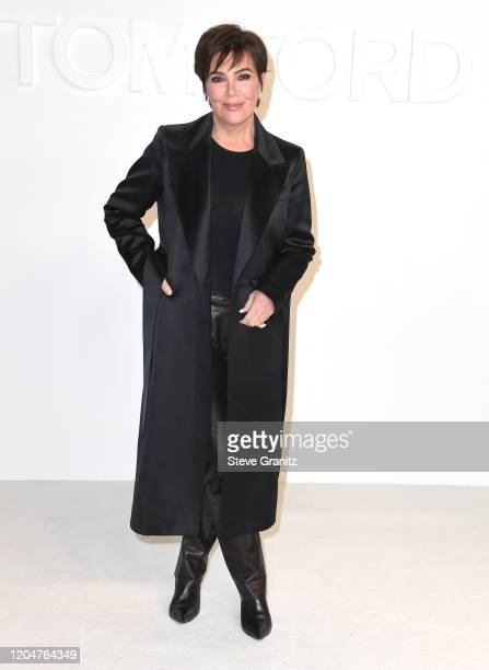 Kris Jenner arrives at the Tom Ford AW20 Show at Milk Studios on February 07, 2020 in Hollywood, California.