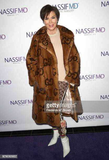 Kris Jenner arrives for Dr. Paul Nassif unveils his new medical spa with grand opening and ribbon ceremony on March 7, 2018 in Beverly Hills,...