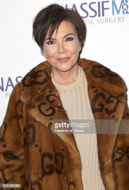 Kris Jenner arrives for Dr Paul Nassif unveils his new medical spa with grand opening and ribbon cutting ceremony on March 7 2018 in Beverly Hills...