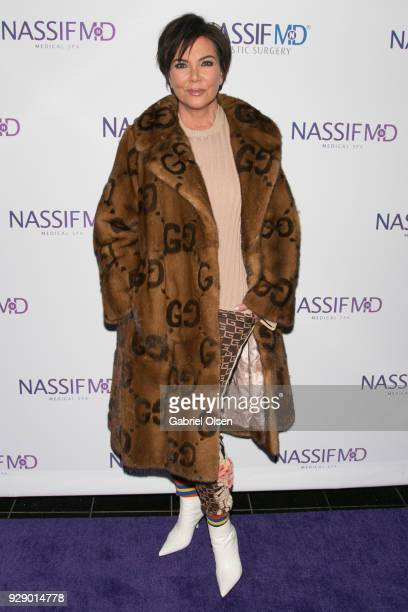 Kris Jenner arrives for Dr Paul Nassif's unveiling of his new medical spa with grand opening and ribboncutting ceremony at Nassif MD Medical Spa on...