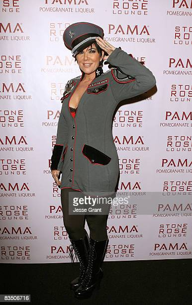 Kris Jenner arrives to Kim Kardashian's Halloween party hosted by PAMA at Stone Rose on October 30, 2008 in Los Angeles, California.