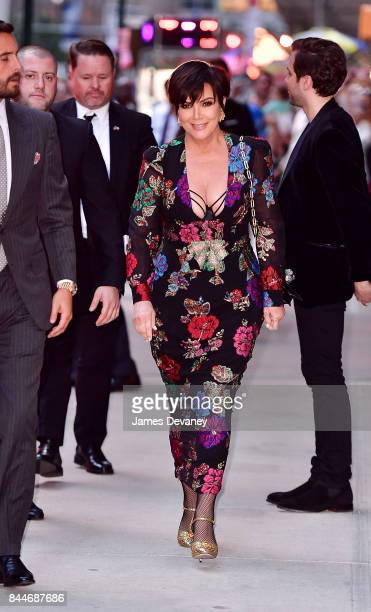 Kris Jenner arrives to the Daily Front Row's Fashion Media Awards at Four Seasons Hotel New York Downtown on September 8 2017 in New York City
