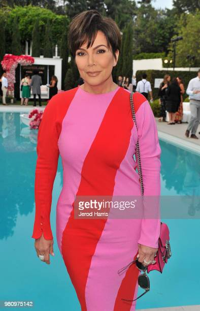 Kris Jenner attends John Legend's launch of his new rose wine brand LVE during an intimate Airbnb Concert on June 21 2018 in Beverly Hills California