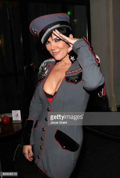 Kris Jenner attends Kim Kardashian's Halloween party hosted by PAMA at Stone Rose on October 30, 2008 in Los Angeles, California.