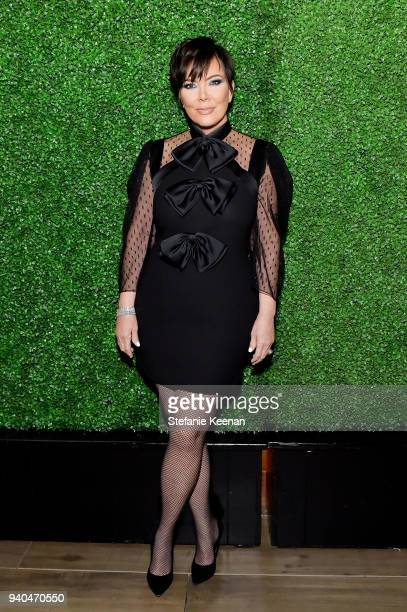 Kris Jenner attends KKWxMario Dinner at JeanGeorges Beverly Hills on March 31 2018 in Beverly Hills California